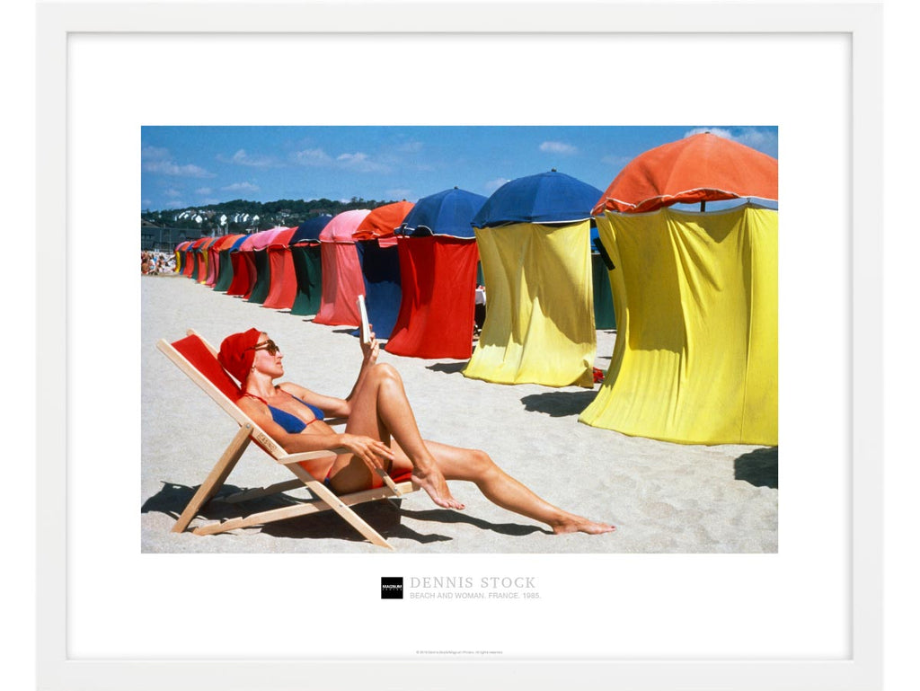 Magnum Collection Poster: Beach and woman. France. 1985.