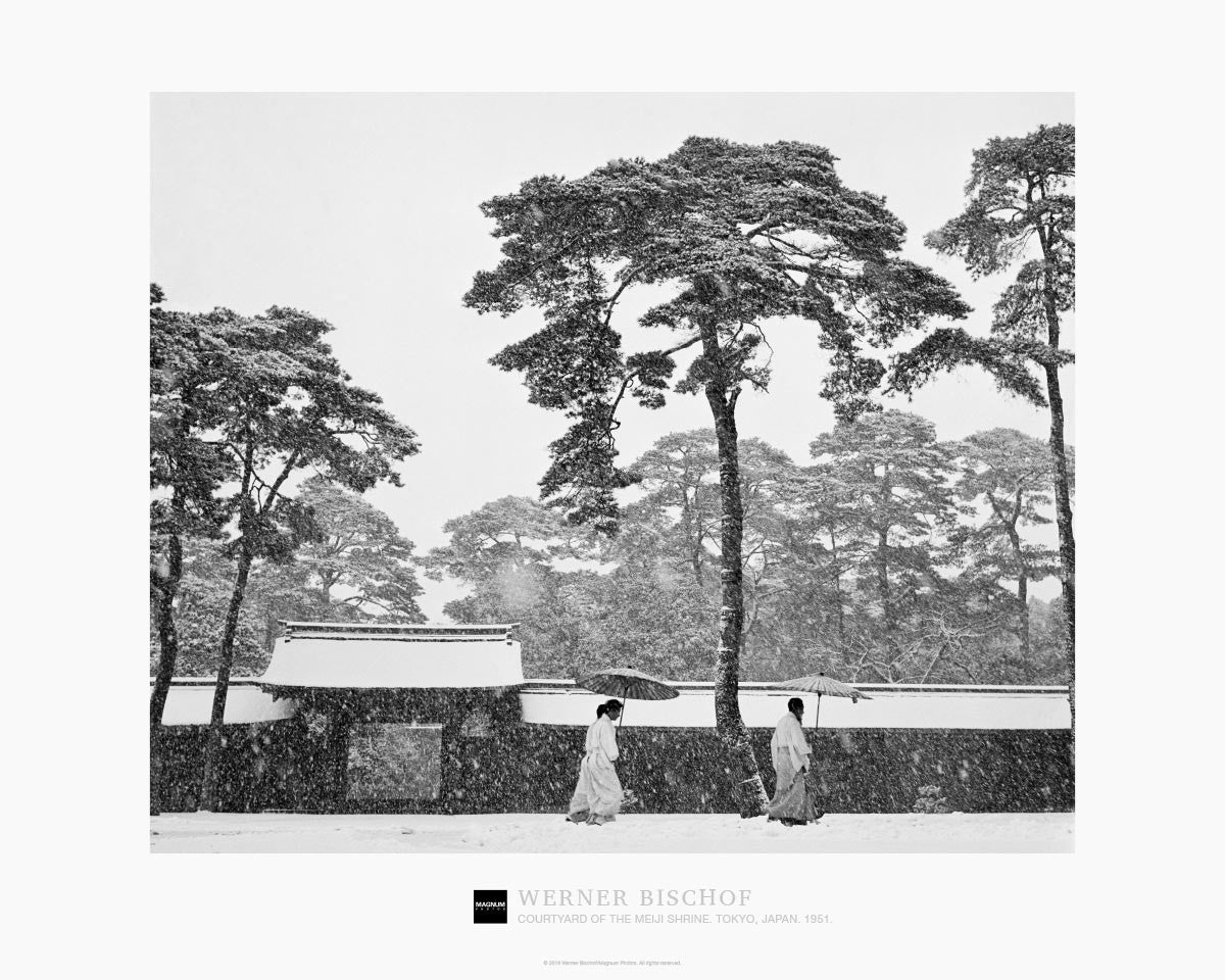 Magnum Collection Poster: Courtyard of the Meiji shrine. Tokyo, Japan. 1951.