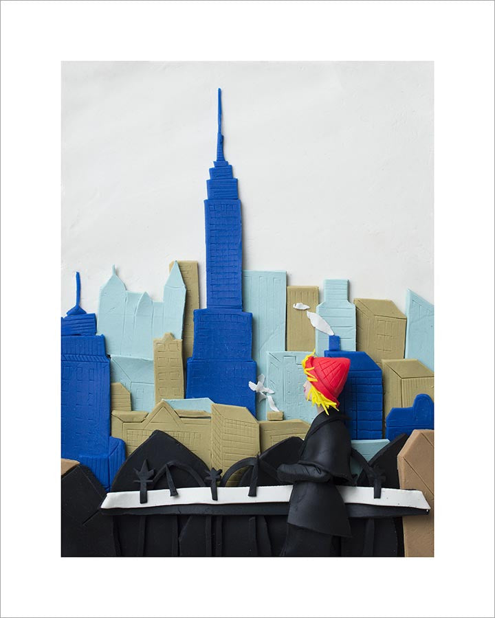 Photographs Rendered in Play-Doh: Empire State Building, New York City, 1955 by Elliott Erwitt