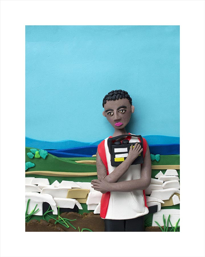 Photographs Rendered in Play-Doh: Prized Possession (#2). Democratic Republic of Congo, Africa, 2008 by Jim Goldberg