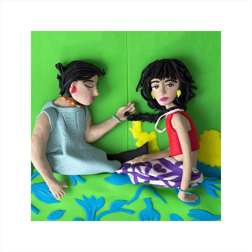 Photographs Rendered in Play-Doh: The Necklace, Buenos Aires, Argentina, 1999 by Alessandra Sanguinetti