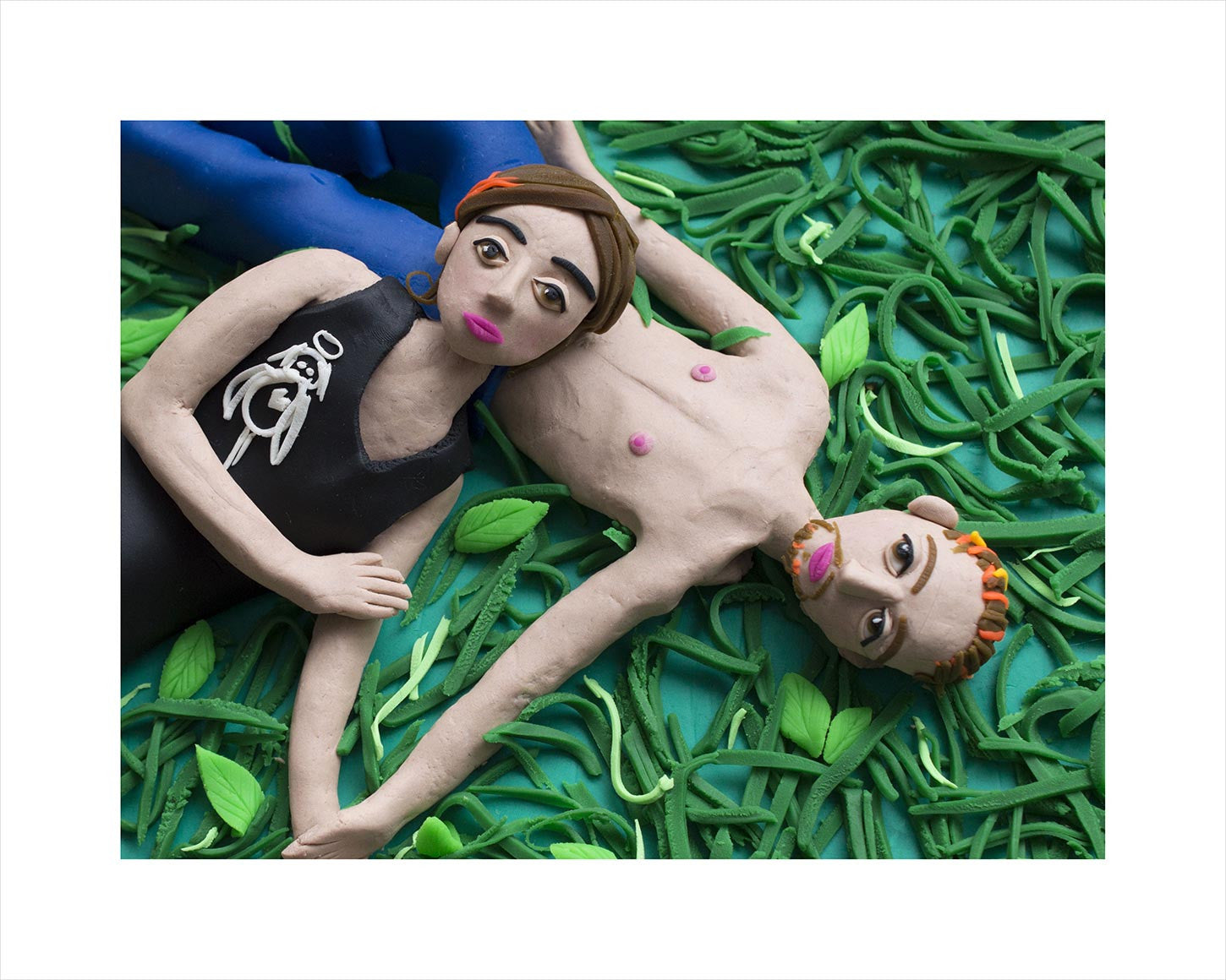 Photographs Rendered in Play-Doh: Tricia and Curtis, Canada 2005 from 'Niagara' by Alec Soth