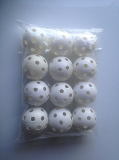 12 - 9 inch Perforated Plastic Balls
