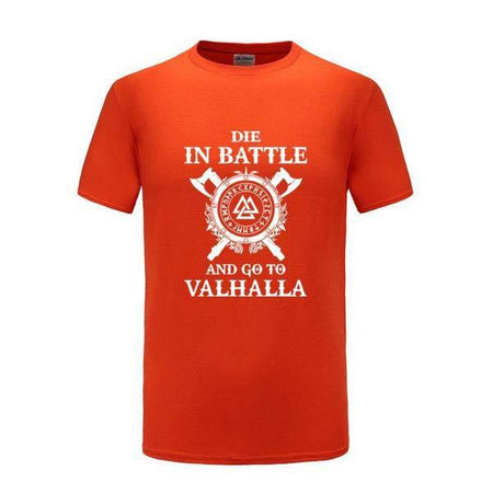 WIKINGER T-SHIRT VALHALLA PINK ORANGE