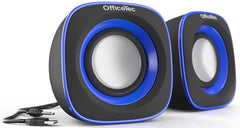 OfficeTec USB Speakers Compact 2.0 System for Mac and PC (SP101)