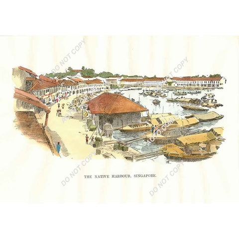 The Native Harbour, Singapore 1899