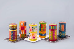 The Club - selection of 6 pillar candles