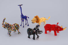 Hand made from recycled materials beaded African Animals