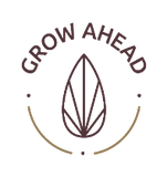 Grow Ahead logo. Grow Ahead works with small farmers to combine farming and planting trees to create a more sustainable carbon free future.