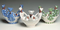 Hand made ceramic friendship bowl