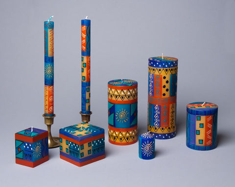 African Sky hand painted candles