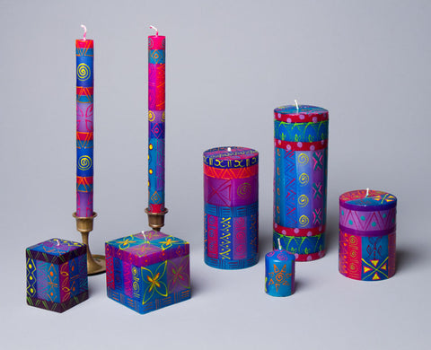 Blue Moon candle collection - taper candles and pillars. Fair Trade