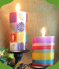 Magic Garden hand painted candles