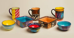 hand made and hand painted ceramics