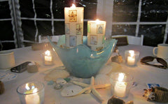 Arniston candles make a great Beach Wedding centerpiece