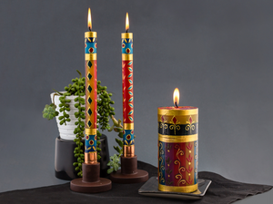 African Mineral Painted Candles