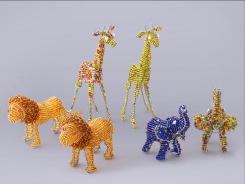 African Beaded Animals - Thumbprint Artifacts