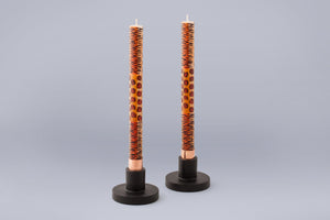 Taper Candle Holders in black hand crafted by artisans in South Africa.