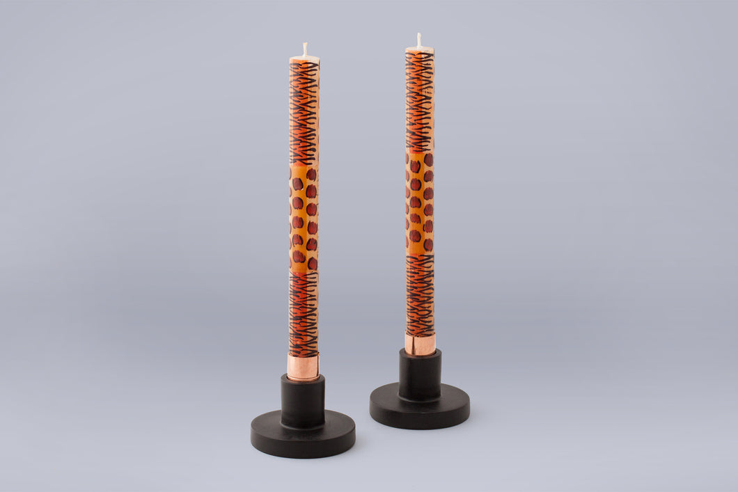 Taper Candle Holders - Pair - Thumbprint Artifacts