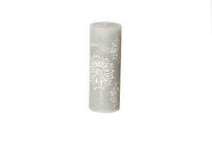 "Henna Duck Egg 3"" x  8"" pillar hand crafted candles made in South Africa.  Fair trade home decor."