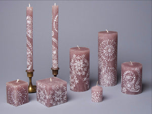 Henna Brown hand poured and hand painted candles made in South Africa. Fair trade home decor.