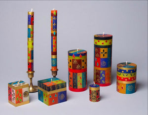 African Mineral hand poured and hand painted candles.  Fair Trade.