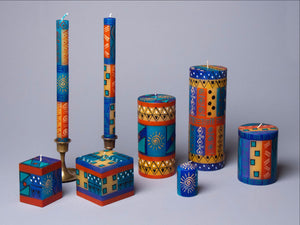 African Sky hand poured and hand painted candles made in South Africa.  Fair Trade.