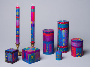 Blue Moon hand poured and hand painted candles made in South Africa. Fair trade.