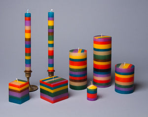 Memphis Stripe artisanal hand crafted candles made in South Africa.  Fair Trade Gifts keep on giving.