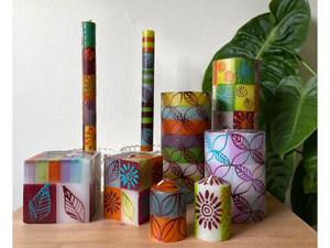Magic Garden Painted Candles