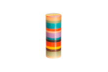 "Memphis Stripe artisanal hand crafted 3"" x 8"" pillar candle made in South Africa."