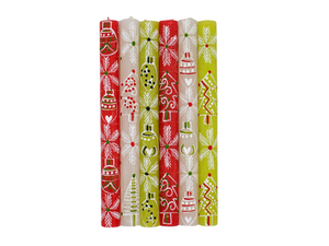 Whimsy Christmas Painted Candles