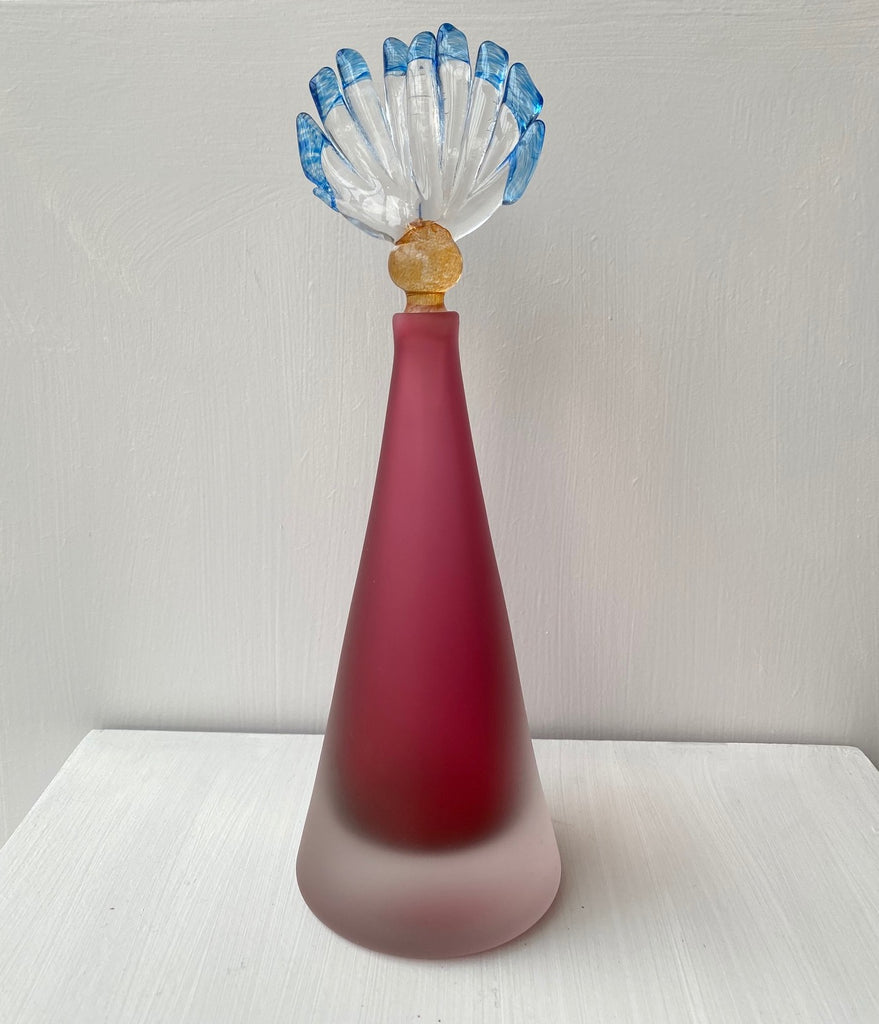 CONICAL SCENT BOTTLE - RUBY