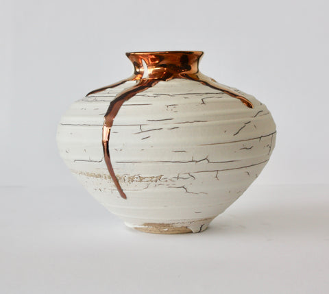 VASE WITH SHORT NECK - COPPER