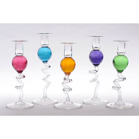 COLOUR BALL CANDLESTICK