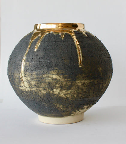 JAR WITH RIM - MEDIUM/LARGE - GOLD