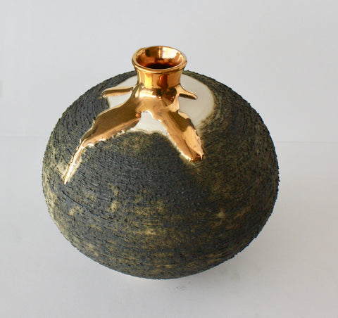 VASE WITH NECK - MEDIUM - GOLD