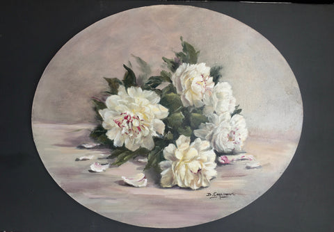 SCATTERED WHITE PEONIES