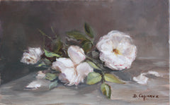 SCATTERED WHITE ROSES