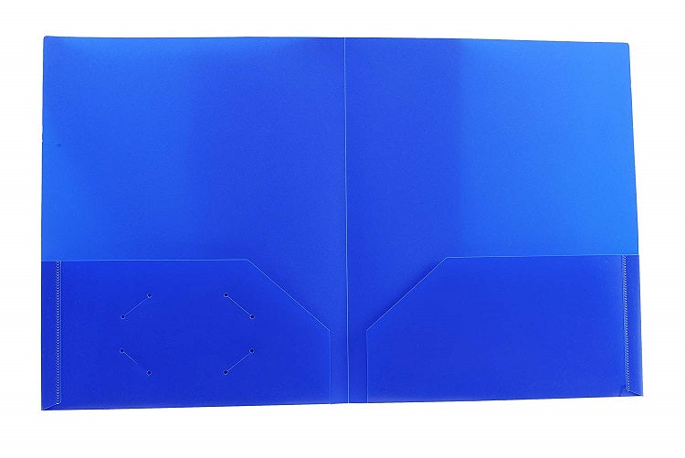 "6 Pcs Three Leaf Two Pocket Poly Portfolio 4.5"" Assorted Color - 6 Pack"