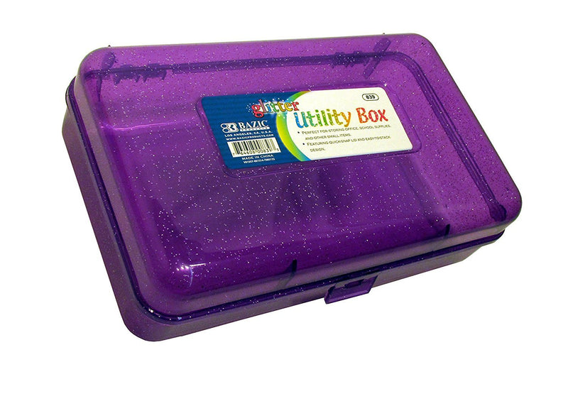 Bazic Multipurpose Glitter Utility Storage Random Color 1 Pack