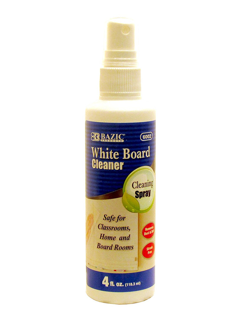 Bazic WhiteBoard Spray Cleaner (4 oz) 1 Bottle
