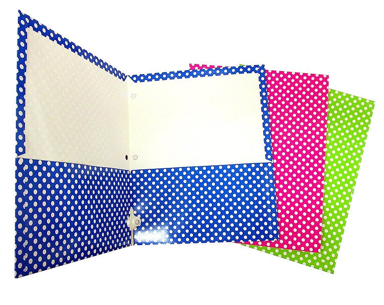 "15 Pcs Bazic Two Pocket Folder 9.5"" X 11.5"" Various Designs - 15 Pack"