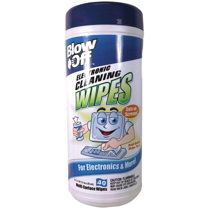 1 Bottle 40 Pcs Blow Off Electronic Cleaning Wipes - 1 Pack