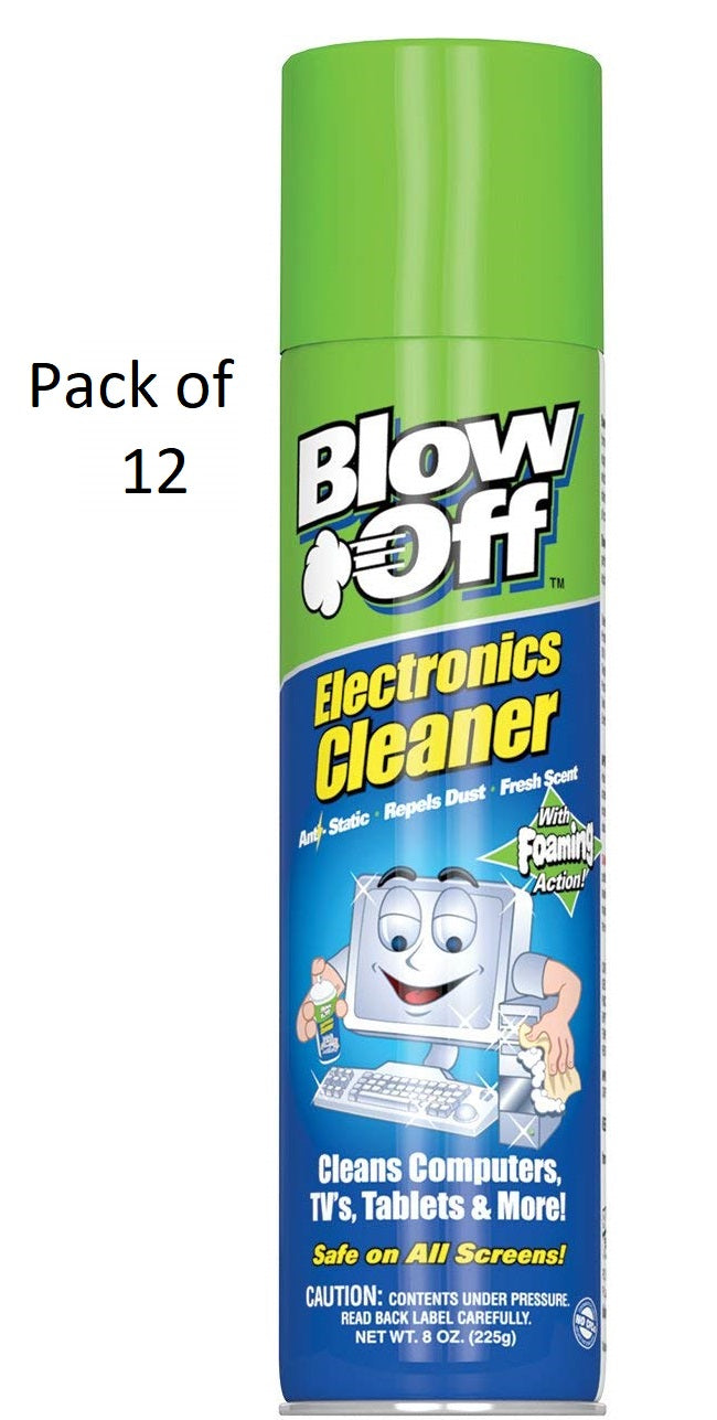 12 Bottles Blow Off Electronics Cleaner With Foaming Action 8 oz. - 12 packs