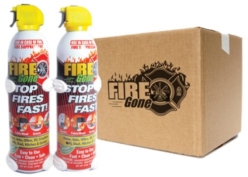 Max Professional Set (12 Firegone Fire Suppressant + 2 Mounting Brackets) - 1 Set