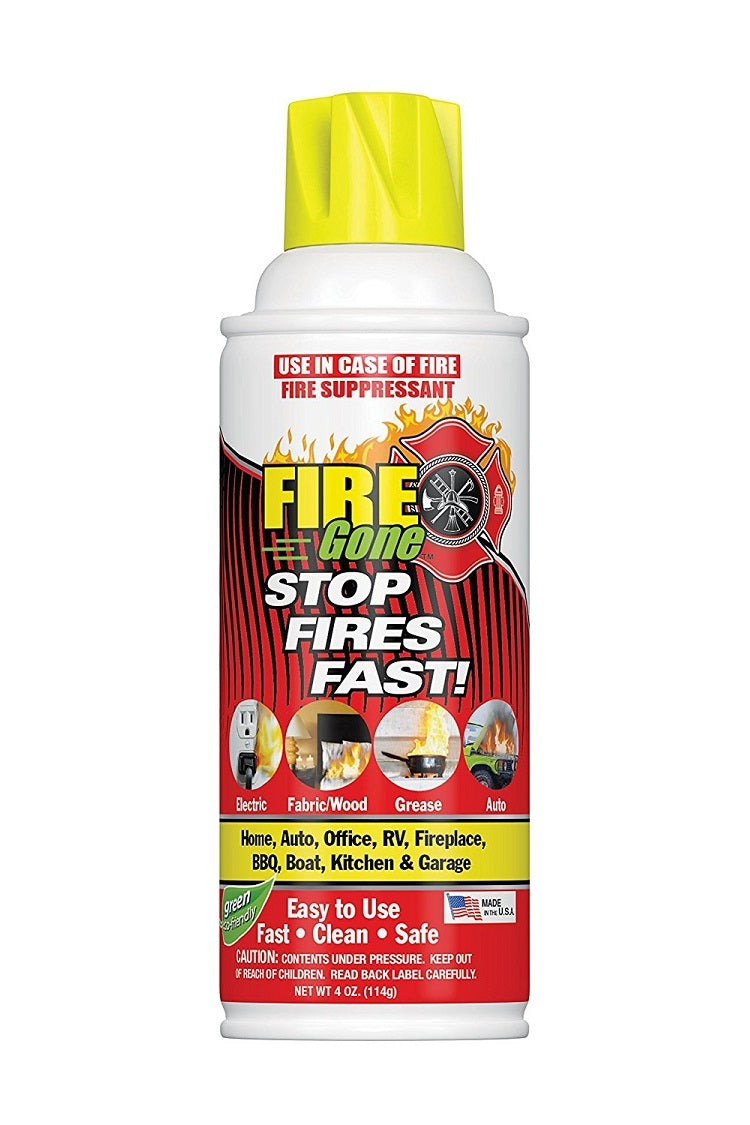 Max Professional Firegone Mini White-Red Fire Extinguisher 4 oz. - 1 Pack