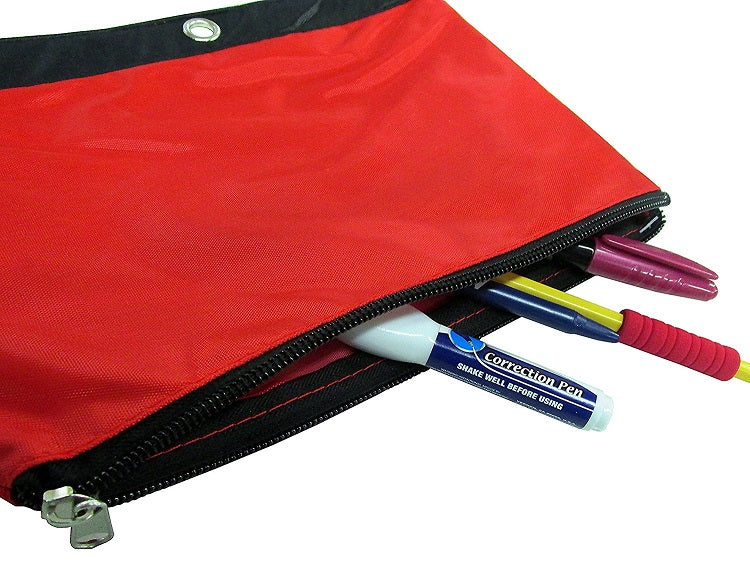 "Kamset Pencil Pouch 9.75"" x 7.5"" Assorted Colors 3 Pack"