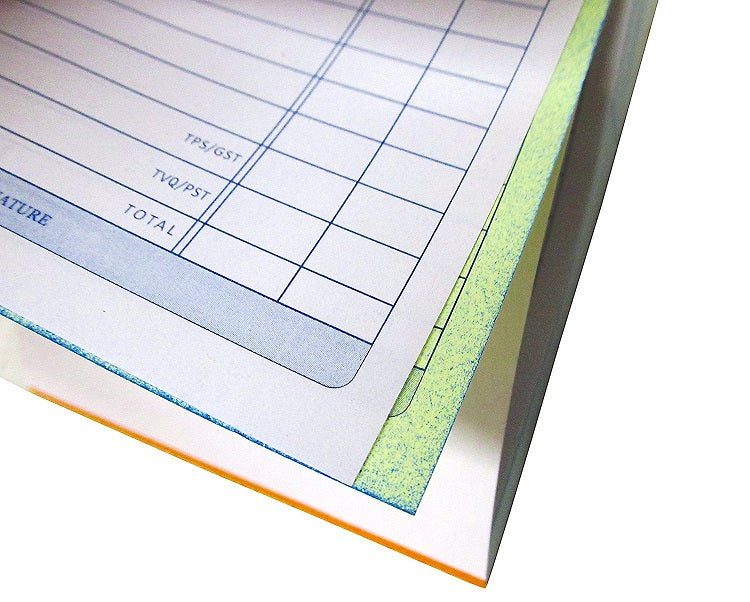 "3 Pcs Kamset Sales Order book 50 Sheet 3.5"" x 6"" White & Canary Carbonless - 3 Pack"
