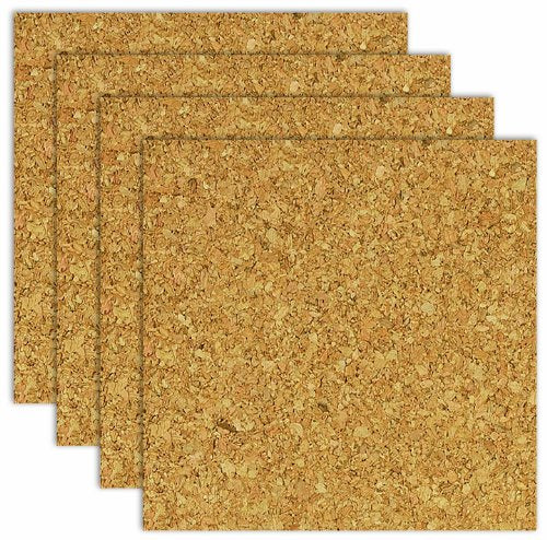 "The Board Dudes Light Cork Tiles (6"" x 6"") 4 Pack"